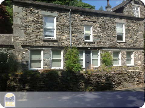 An example of our timber windows in a property in themiddle of th Lake District