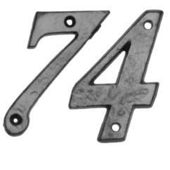 Numerals in antique black
