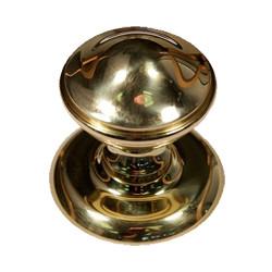 Door Knob in polished brass