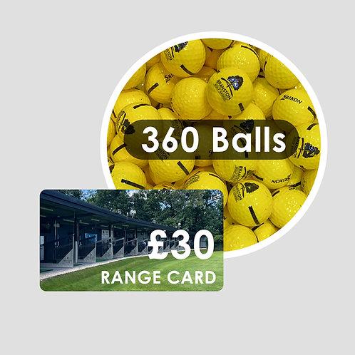 Range Card - 360 Golf Balls
