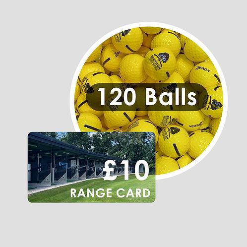 Range Card - 120 Golf Balls