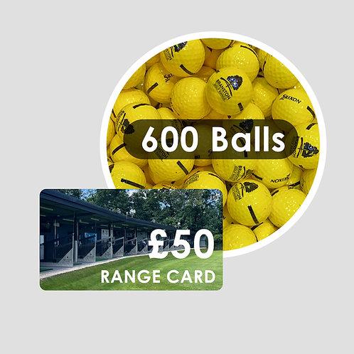 Range Card - 600 Golf Balls