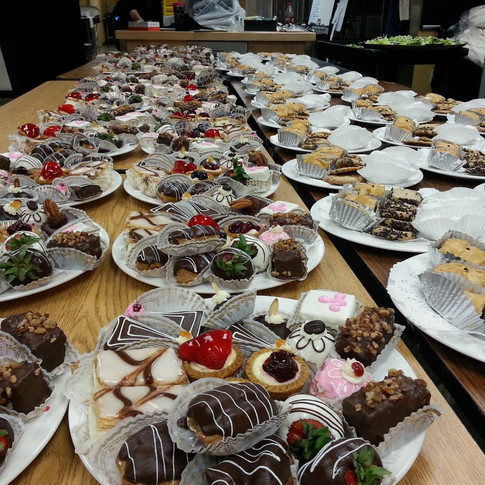 Massive Dessert Plate Ups when I directed UW Parkside events at Back of House
