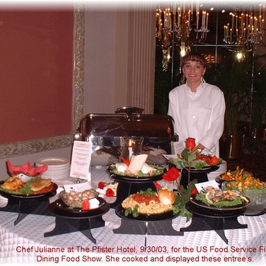 US Foods Fine Dining Show - my food creations and display.