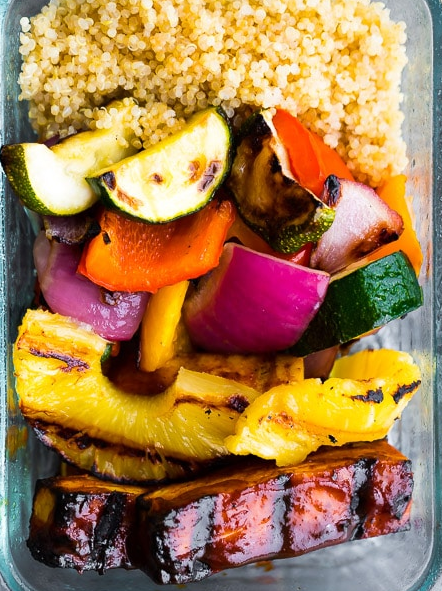 Pineapple BBQ Tofu Meal