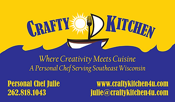 Crafty Kitchen Business Card Contact Information