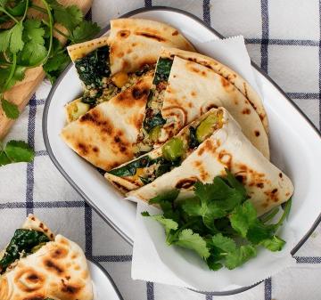 Quinoa and Kale Veggie Quesadillas