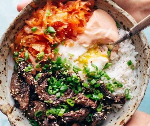 Korean BBQ Steak Yum Yum Rice Bowls