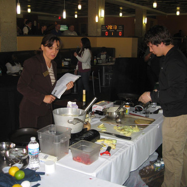 Judging for the UW Parkside Annual Cook Off