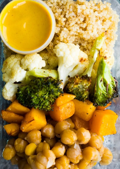 Roasted Vegetables w Turmeric Tahini