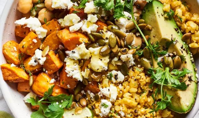 Cauliflower Rice Bowl w Sweet Potato