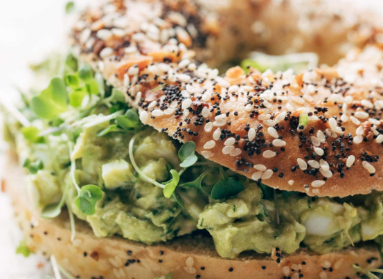 Avocado Egg Salad with Everything Bagels