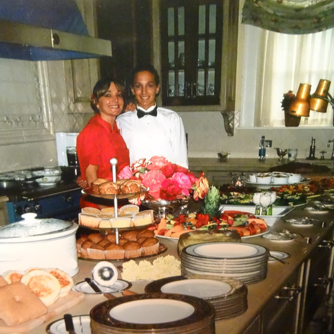 Previous Personal Chef of Gourmet Everyday for a elaborate Brunch at the Richard Driehaus Estate, Lake Geneva, with my daughter Kristy's assistance.