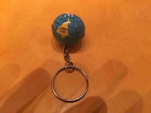 Alex's world tour globe keychain