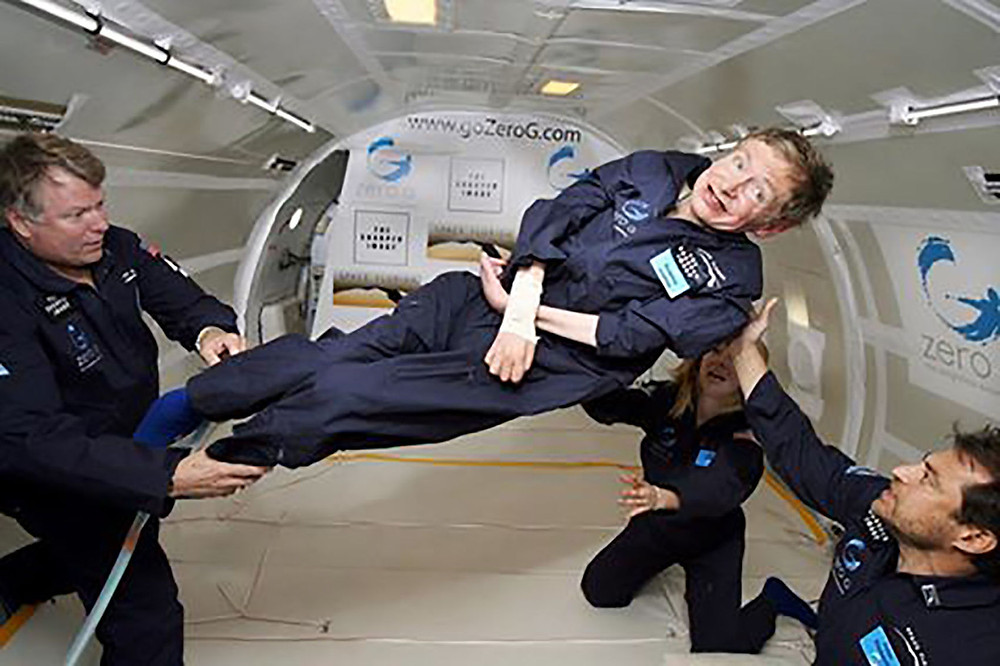 Professor Stephen Hawking (c) JIm Campbell, AeroNewsNetwork, All Rights Reserved