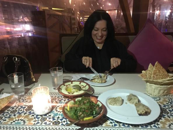 Dinner arabic cuisine.JPG