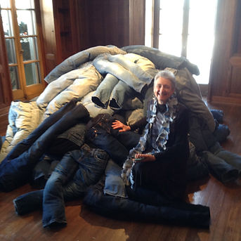 A-Anderson. Kroth with her installation.