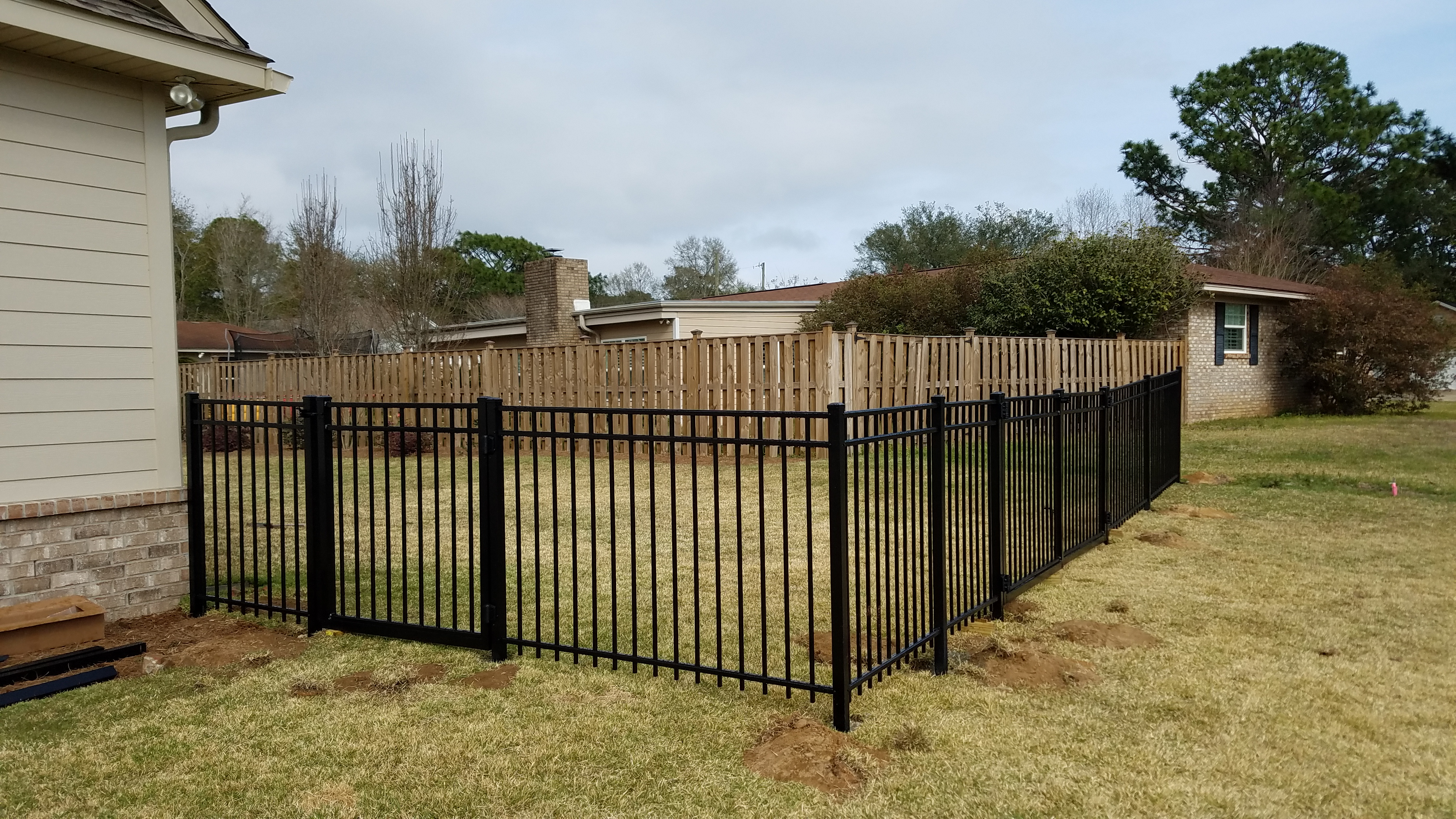 4 Black Aluminum Fence Pensacola