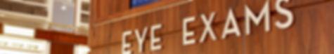 Eye exam sign