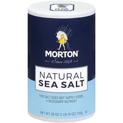 Morton Natural Sea Salt (26oz)