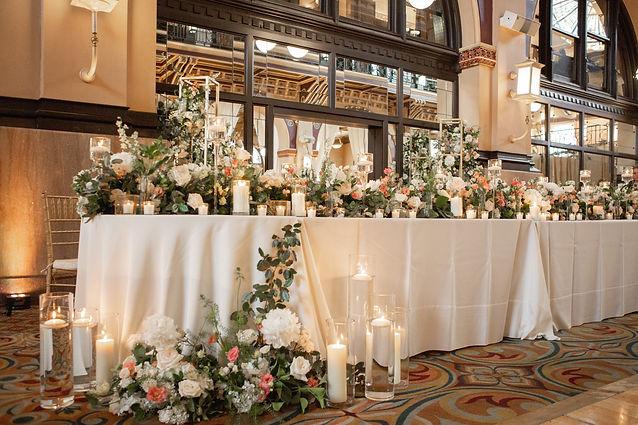 Luxury floral head table