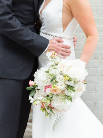Perfect peony and rose bridal bouquet