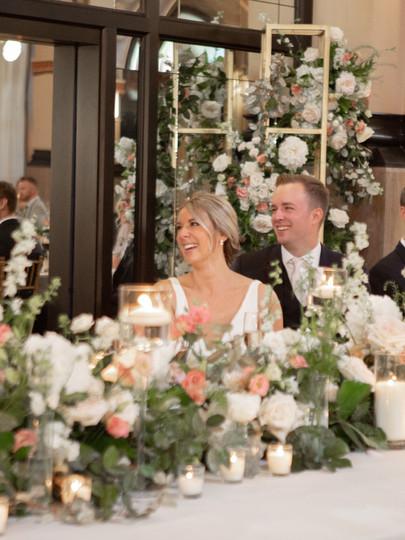 Head table + Bridal and Groom