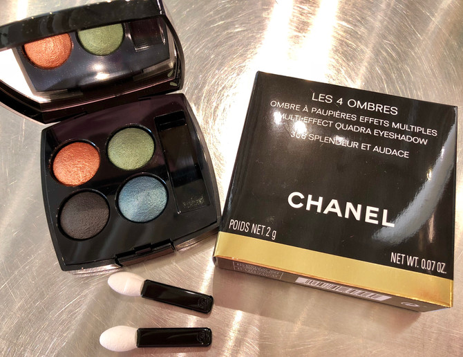 Bright pops of colored eyes from Chanel