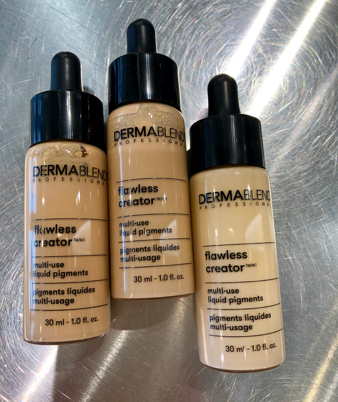 Dermablend in a liquid drop form