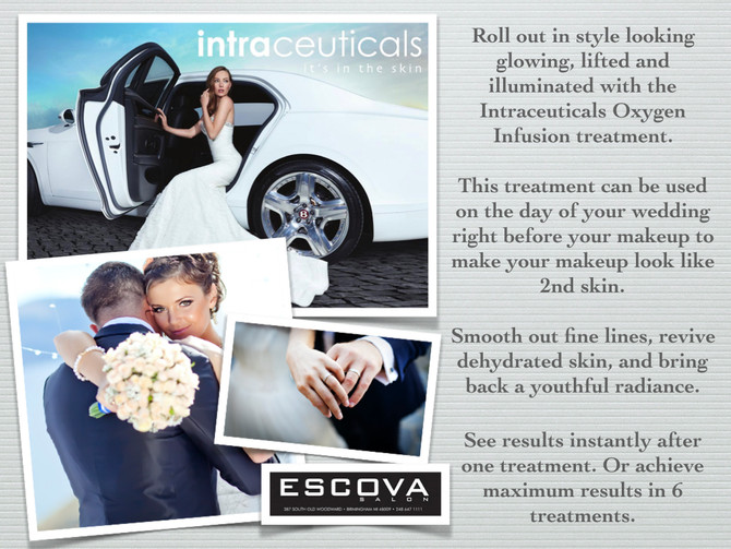 roll up in style on your wedding day with the intraceuticals oxygen infusion treatment