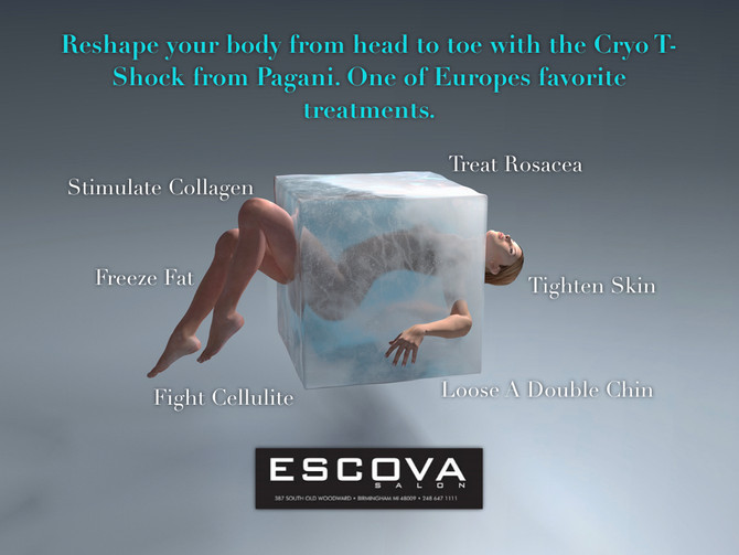 Reshape your body with the Cryo T-Shock from Pagani