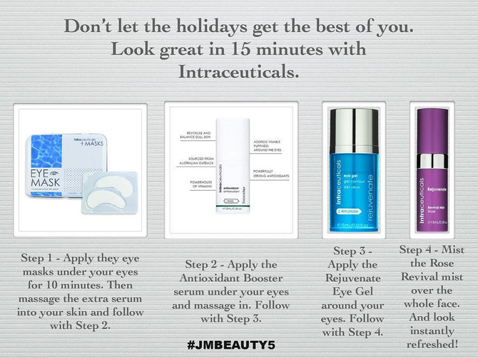 Look great in 15 minutes with Intraceuticals