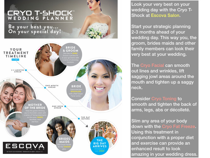 look your best on your wedding day with the cryo T-shock