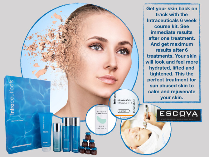 Get your skin back on track with the 6 week course kit from Intraceuticals