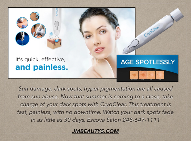 CryoClear can clear up those unwanted dark spots with just one shot!