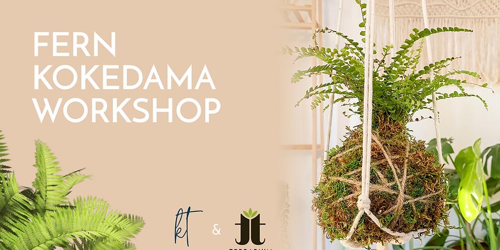In-Person Fern Kokedama and Macrame Hanger Workshop