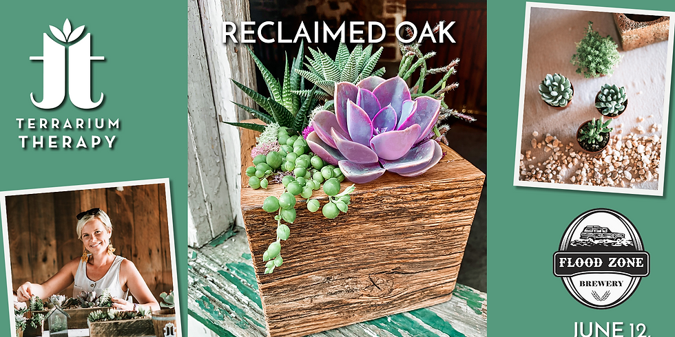 In-Person Workshop - Reclaimed Oak Barnwood Box at Flood Zone Marketplace & Brewery