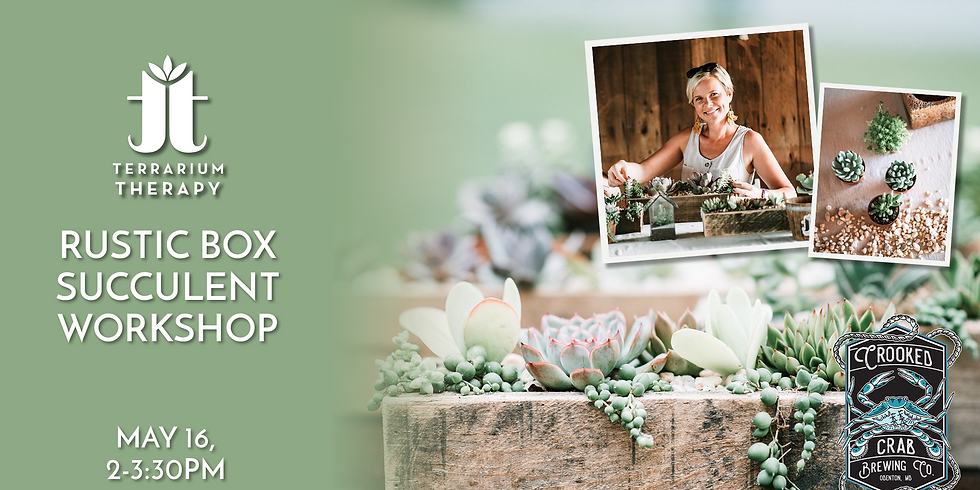In-Person Rustic Box Workshop at Crooked Crab Brewing Company