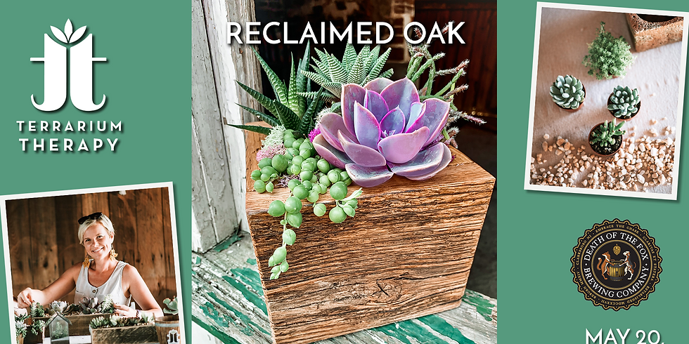 In-Person Workshop - Reclaimed Oak Barnwood Box at Death of the Fox Brewing Company