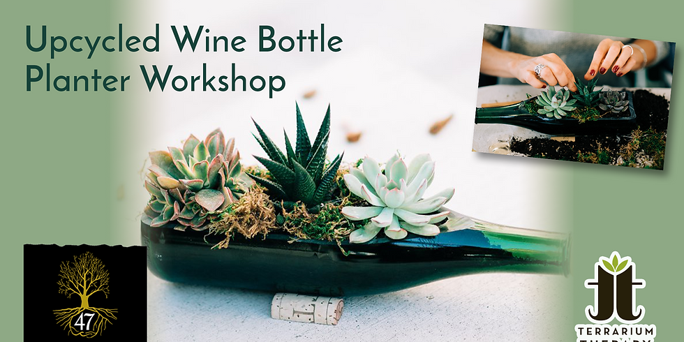 In-Person Wine Bottle Succulent Workshop at Harvest Ridge Winery