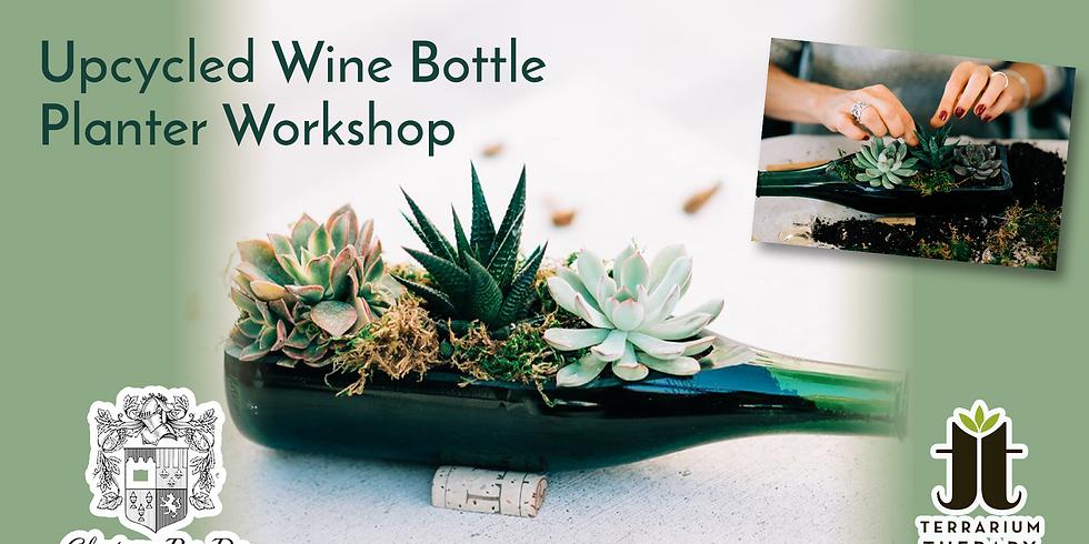 In-Person Wine Bottle Succulent Workshop at Chateau Bu-De Winery