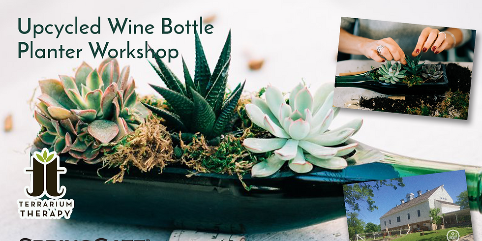 In-Person Wine Bottle Succulent Workshop + $15 SpringGate Gift Card at SpringGate Vineyard & Winery
