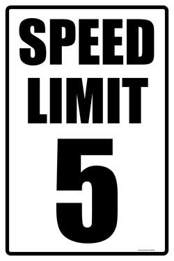 """12""""X18"""" SPEED LIMIT 5"""