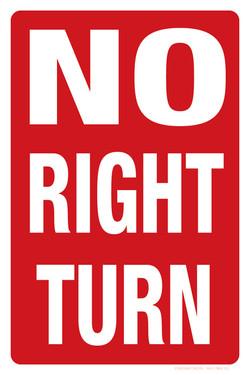 "12""x18"" NO RIGHT TURN"