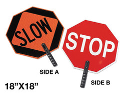 """18"""" STOP/SLOW SIGN WITH HANDLE"""