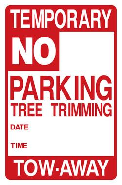 "11""X17"" TEMPORARY NO PARKING - TREE"