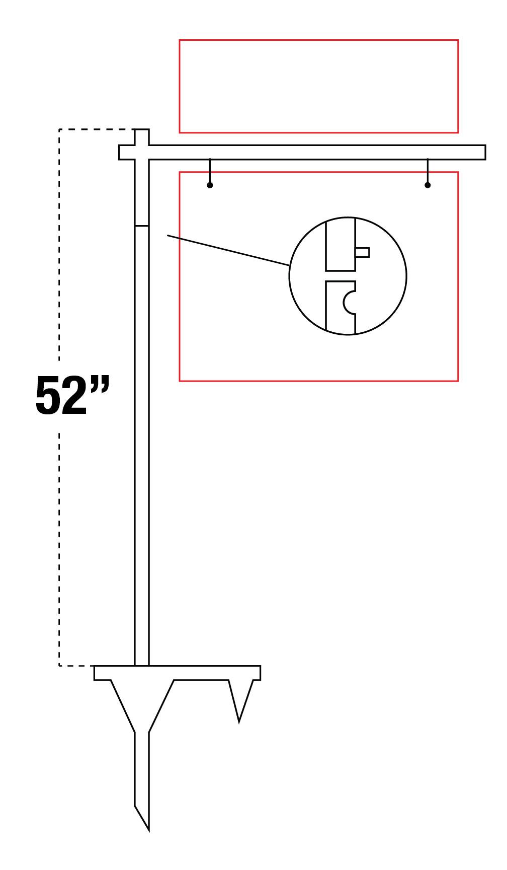 """52""""H Yard Post"""