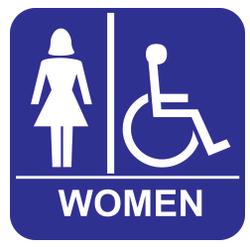 "8""X8"" WOMEN W/ WHEEL CHAIR"