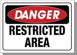 DANGER-RESTRICTED AREA