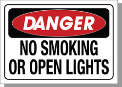 DANGER-NO OR OPEN LIGHTS